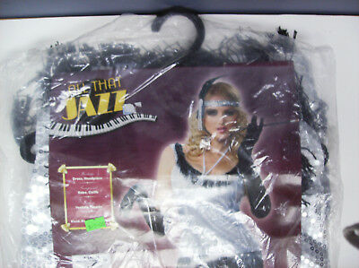 ALL THAT JAZZ SILVER SEQUIN FLAPPER DRESS WOMEN HALLOWEEN COSTUME XL](All That Jazz Costumes)