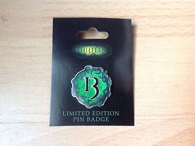BN ALTON TOWERS LIMITED EDITION TH13TEEN PIN BADGE