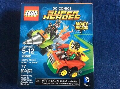 LEGO DC SUPER HEROES 76062 MIGHTY MICROS ROBIN VS. BANE   NISB    FREE SHIPPING