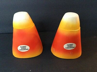 Holiday Candy Corn  Halloween/ Harvest candle holder with top,  Decoration