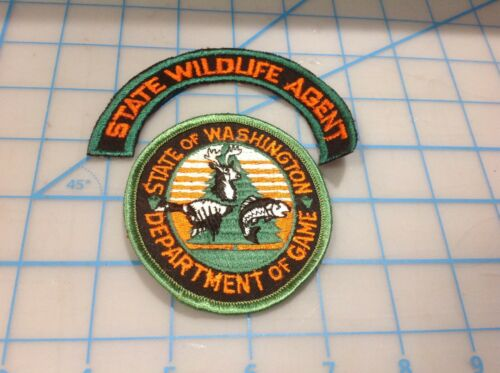 Vintage State of WASHINGTON Deptartment of Game State Wildlife Agent  Patch (W)