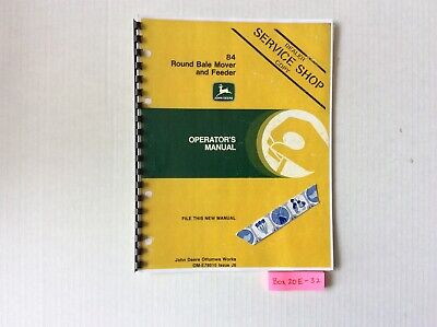 John Deere 84 Round Bale Mover And Feeder Operators Manual Ome78010