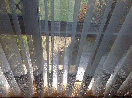 Curtains Ideas 220 drop curtains : 2 X brown sheer curtains - 2.30m drop | Curtains & Blinds ...