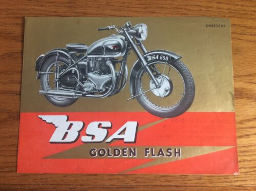 VINTAGE 1951 BSA MOTORCYCLE GOLDEN FLASH BROCHURE
