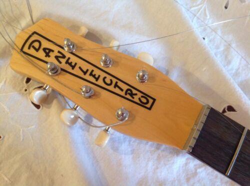 Vintage danelectro neck 90s tuners nut silver tone u2 u1 longhorn natural