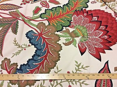 "Schumacher exclusive handprinted designer fabric ""Paraiso"", 70 yards available"