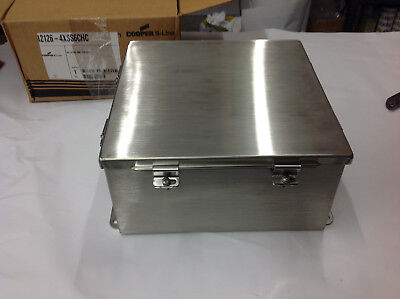 Cooper B-line 12126-4xss6chc Stainless Steel Jic Hinged Enclosure 12 X 12 X 6