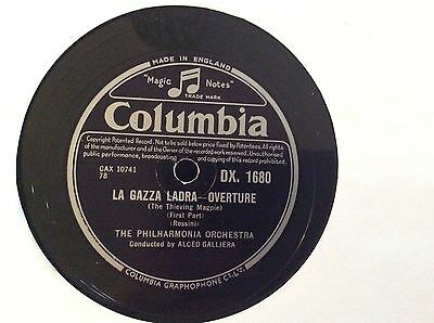 "THE PHILHARMONIA ORCHESTRA - La Gazza  Ladra Overture 12"" 78rpm #FREE P&P UK#"