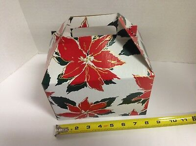 100 Poinsettia Christmas Gift Boxes Treat Boxes Favor Gable Box boxes Favor Gable Boxes