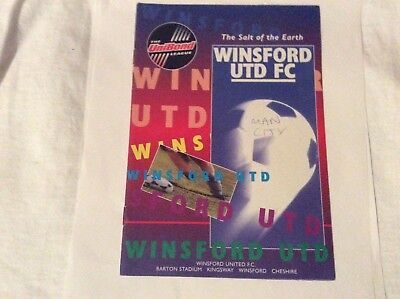 Winsford United  v Manchester City Pre Season Friendly  August 1995
