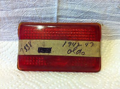 Oldsmobile, 1942 to 47; tail light lens, NOS and good.  0665