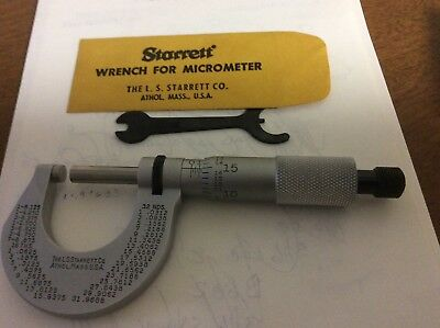 Used Starrett 0.0 To 1.000 Micrometer 230rl
