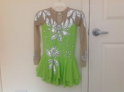 Ladies Stunning Custom Ice Figure Skating Competition Dress Size M