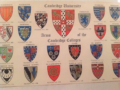 Arms of the Cambridge College, J.Salmon Postcard