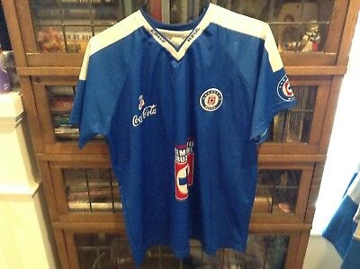 a51fc04a1 VTG Cemento Cruz Azul Blue Sewn Patch Futbol Soccer Jersey SZ XL - Cool