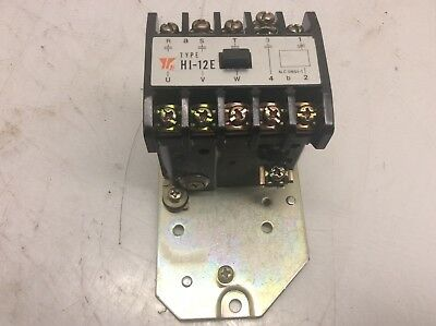 Yaskawa Magnetic Contactor, HI-12E, 120V Coil, Used, Warranty