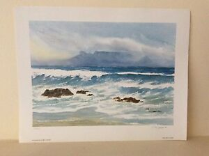 Limited edition, signed Shirley Thurgood seascape print Henley Beach Charles Sturt Area Preview