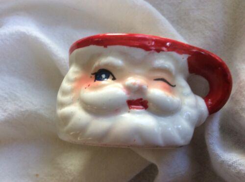 Vintage Miniature Winking Santa Mug