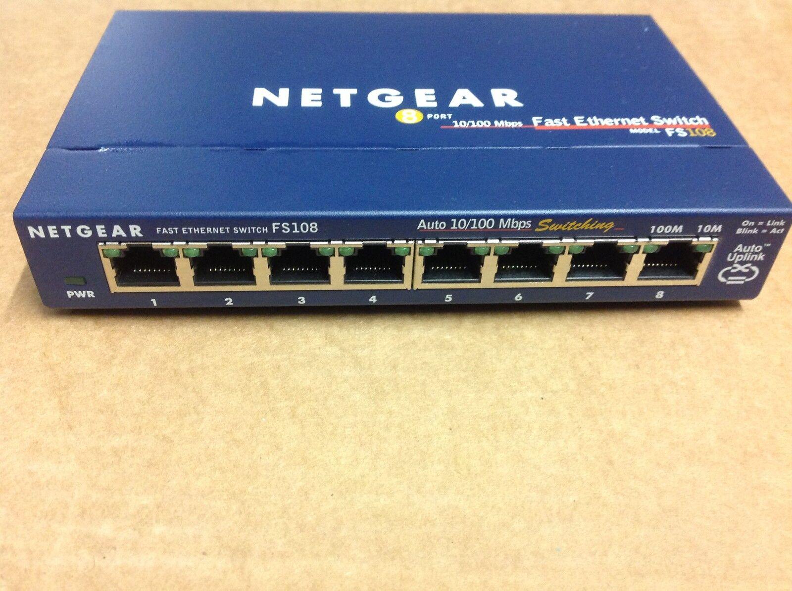 Switch Netgear FS108 8-Port Fast Ethernet mit Netzteil