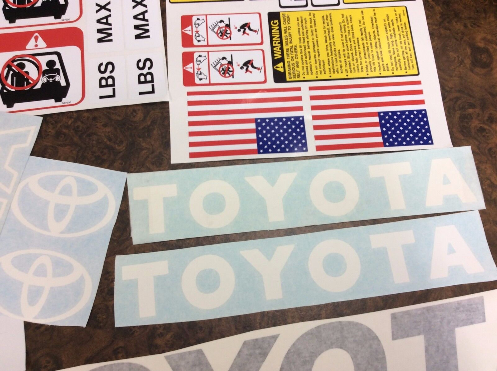 Toyota Forklift Decal Kit Detailed With Safety Decals White And Wiring Harness 8fgu25 2 Of 5 Gray Combo 3