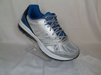 - AND1 (SHIFT) ATHLETIC WHITE/GREY BLUE ACCENTS LEATHER & MESH MENS SHOE NIB