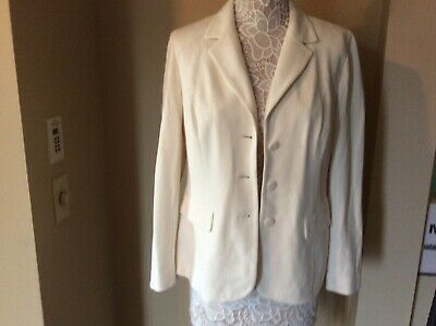 CHICOS Women Size 1 (Medium Sz 8) Jacket Blazer Cream