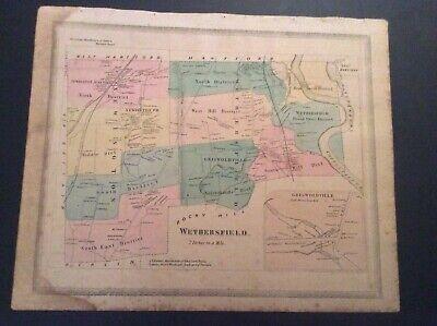 - Map of Wethersfield, Connecticut from 1869 Baker & Tilden Hartford County Atlas.
