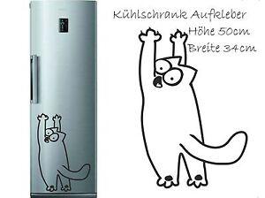 Kühlschrank Aufkleber Wandtattoo Folie Katze Simon´s Cat