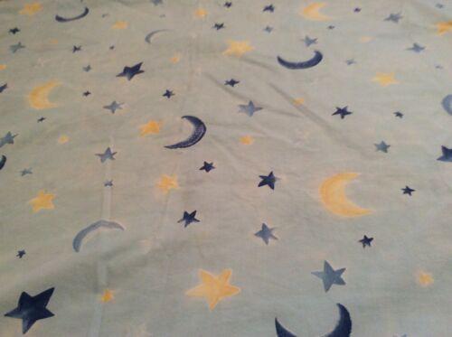 "Baby Crib Duvet Pottery Barn Cotton 36"" Wide 45"" Long Moon & Star Blue Yellow"