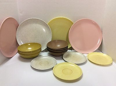 Vtg Mid-Century Lot of 19 Kitchen Picnic Pool Party Snack Camping Dishes
