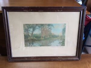 Antique Wallace Nutting American print photo