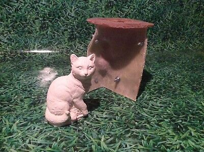 LATEX AND FIBREGLASS MOULD SITTING CAT 14CM TALL ORNAMENT MOULD