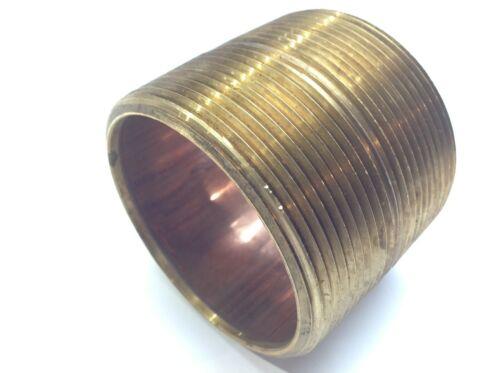 "3"" NPT Fully Threaded Brass Pipe Nipple"
