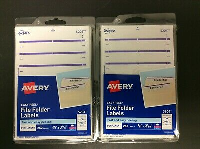 Avery Print Labels For Laser Inkjet Printer 5204 13 Cut Purple 2 Count