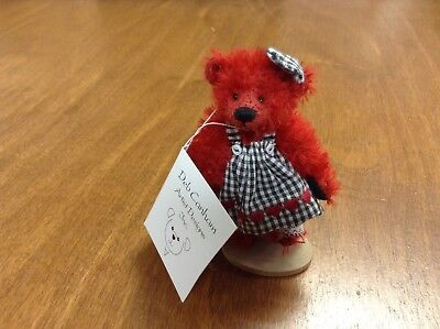 Deb Canham Teddy Bear Ruby Red Ltd. Ed.