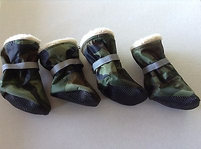 Zack and Zoey LARGE DOG BOOTS - CAMO OXFORD BOOTS   NWT 100% NYLON 100% Nylon Oxford