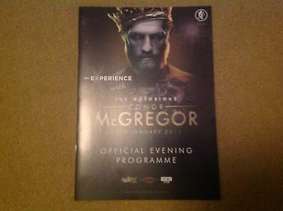 Connor McGregor MMA Official Programme Floyd Mayweather Boxing Match August 2017