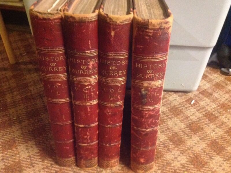 History of Surrey by Brayley & Walford four volume set