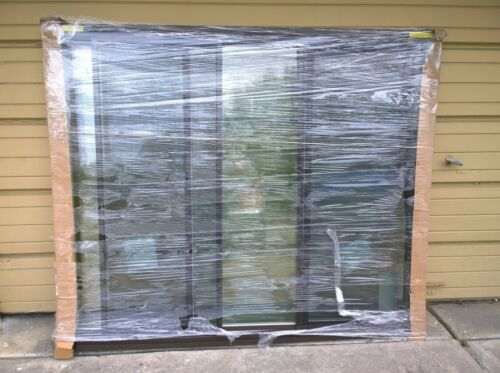 "BRAND NEW Nice White & Bronze Color VINYL PICTURE WINDOW w/ Side Sliders 72""x59"""
