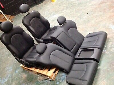 MERCEDES CLK W209  BLACK LEATHER FRONT HEATED AND REAR SEATS