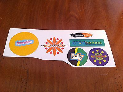 Sticker Decal Lot Cherubim Bucolic Cranberries Holly Scrooge Wrapping Paper Xmas
