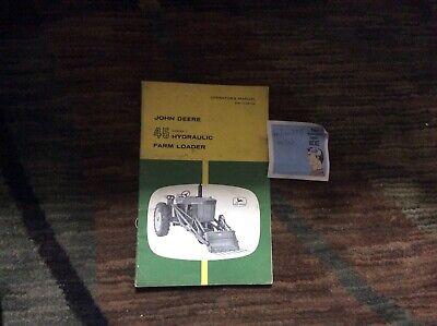 John Deere 45 Tractor Loader Omc12410 Operators Book Abg6070720730