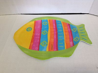 Fish Shaped Melamine Platter Colorful summer centerpiece dinner beach server  Dinner Fish Platter