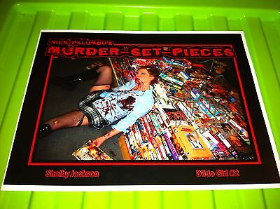 MURDER SET PIECES SIGNED LOBBY CARD SHELBY VOGEL AUGUST UNDERGROUND TOETAG GORE
