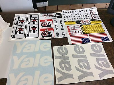 Yale Forklift Decals Black And White Complete With Safety Decal Kit