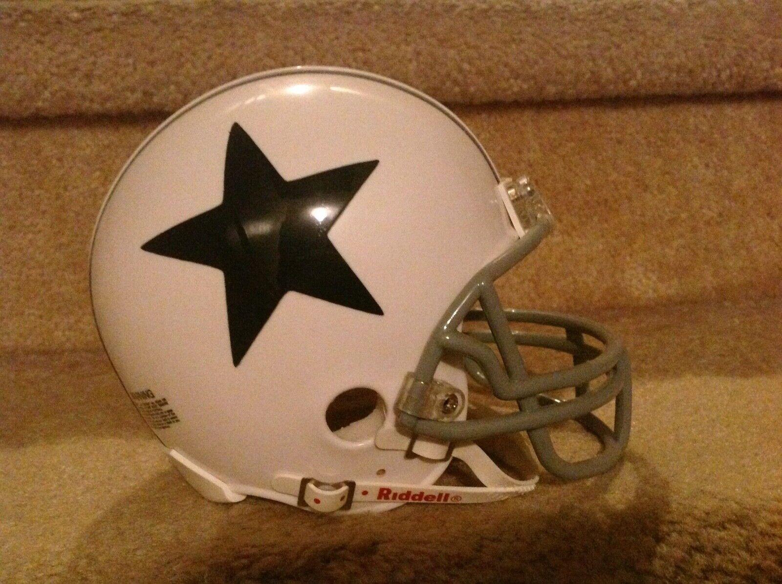 Dallas Cowboys throwback mini Football Helmet authentic no b