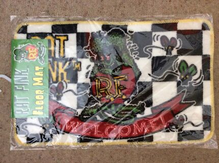 GENUINE MOONEYES RATFINK FLOOR MAT NEW IN PACKET VW KOMBI ED ROTH