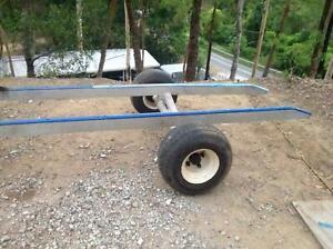 Aluminium boat trailer