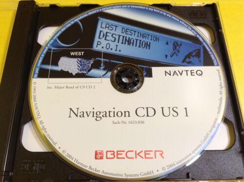 Ferrari Navigation CD US 1 West USA Becker Ferrari USA sach-Nt 1623.036 NAVTEQ