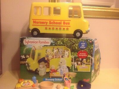 Sylvanian Families Nursery School Bus And Accessories boxed